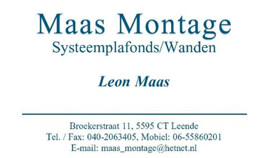 Maas Montage | Systeemplafonds & -wanden